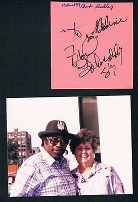 1987 Original Deceased American Guitarist Bo Diddley Signed Cut Square