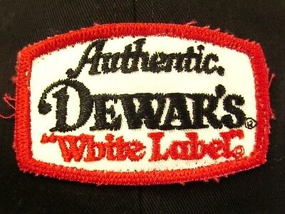 DEWAR'S SCOTCH baseball hat Authentic White Label whisky booze cap w/ patch