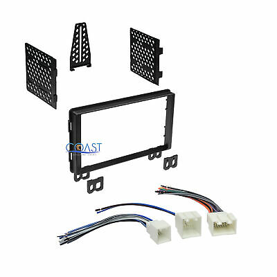 Car Double DIN Stereo Dash Kit Wire Harness for 2001-06 Ford Lincoln Mercury