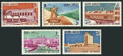 Cambodia 101-05,MI 132-136,MNH.Foreign Aid:Czech,Chinese,Russian,American,French