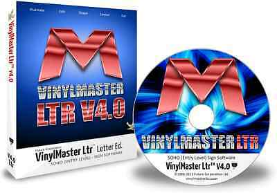 VinylMaster Letter Ltr VML Vinyl Cutter Software Crossgrade with CD