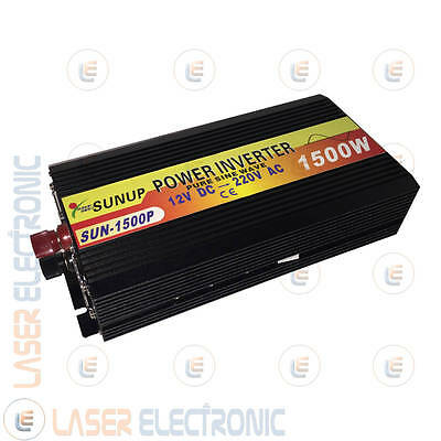 POWER INVERTER ISOLA ONDA SINUSOIDALE PURA 1500W (max3000W) DA 12V A> 220V