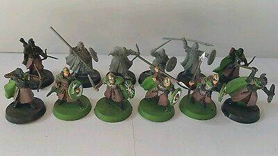 12 x warriors of rohan part painted plastic models The hobbit LOTR