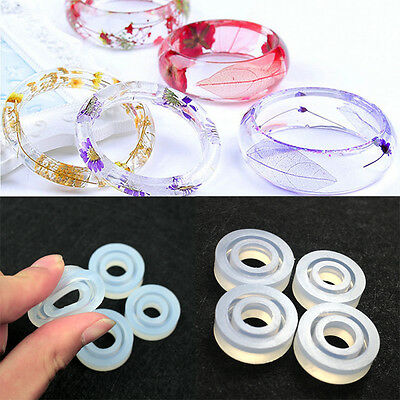 Resin Ring Making Casting DIY Jewelry Rings Silicone Mold Mould Craft Tool