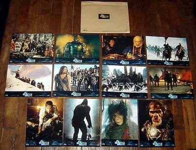 PLANET OF THE APES Tim Burton Mark Wahlberg Kristofferson 12 FRENCH LOBBY CARDs