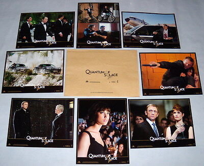 QUANTUM OF SOLACE James Bond Daniel Craig Arterton Kurylenko 8FRENCH LOBBY CARDs