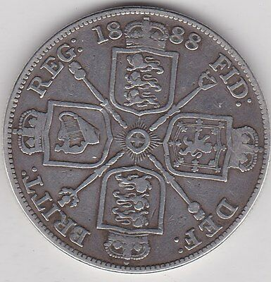 1888 Double Florin In A Used Fine Condition