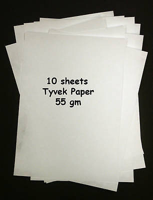 Tyvek A4 55gm - Pack of 10 sheets Tyvek Paper