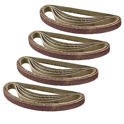Belt Power Finger File Sander Abrasive Sanding Belts 330mm x 10mm 40 Grit 20 PK
