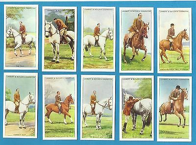Lambert & Butler cigarette cards - HORSEMANSHIP - Full mint condition set.