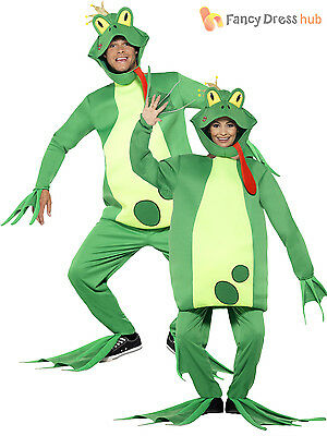 Adult Frog Fancy Dress Prince Charming Fairytale Mens Book Week Costume Outfit
