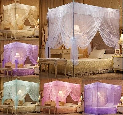Lace Princess Four Corner Post Bed Canopy Mosquito Netting Or Frame (Post)