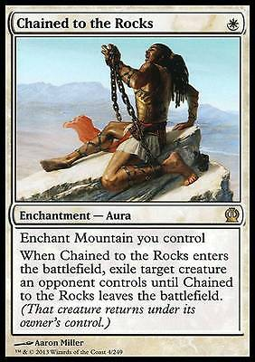 INCATENATO ALLE ROCCE - CHAINED TO THE ROCKS Magic THS Mint Theros