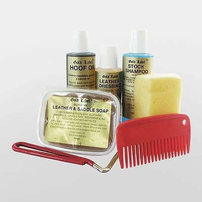 Gold Label Pony Care Kit - Horse Riding Showing Bathing Cleaning Grooming Pet
