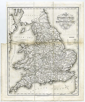 Antique Map-ENGLAND-WALES-Creighton-Lewis-Starling-1840