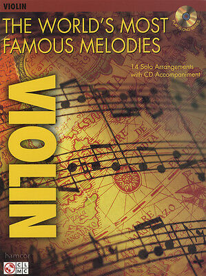 The World's Most Famous Melodies for Violin Sheet Music Book & Play-Along CD