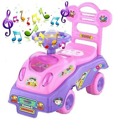 My First Ride On Kids Toddlers Infants PINK Toy Car Girls Push Along QX-3320