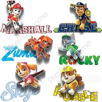 Paw Patrol Mini 3D Led Wall Lights Kids Bedroom Lighting - Marshall Chase + More