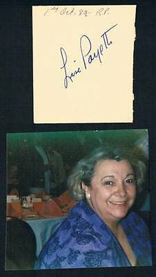 1989 Original Quebec Politician Writer Lise Payette Signed Cut Square