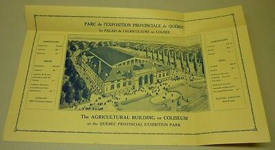 Official Quebec Coliseum Inaugural Year Advertising Pamphlet & Blue Print