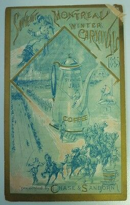 1885 Montreal Winter Carnival Chase & Sanborn Coffee Premium Advertising Card