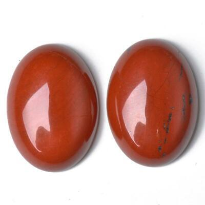 1 x Red Jasper Flat Back 25mm Coin 7.5mm Thick Cabochon CA16669-8