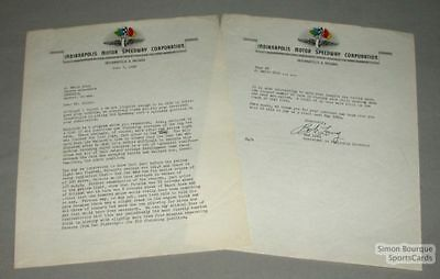 1950 June Indianapolis Motor Speedway Co Signed Letter
