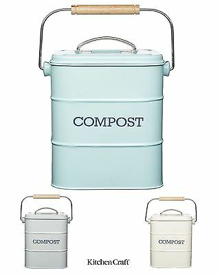 Living Nostalgia Compost Bins in Cream, Blue, Grey, Sage Green or Spare Filters