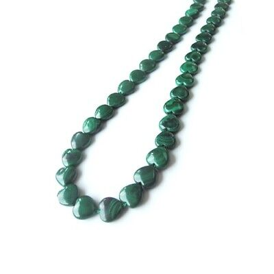 Packet Of 4 x Green Malachite 10mm Puffy Heart Beads GS1406-1