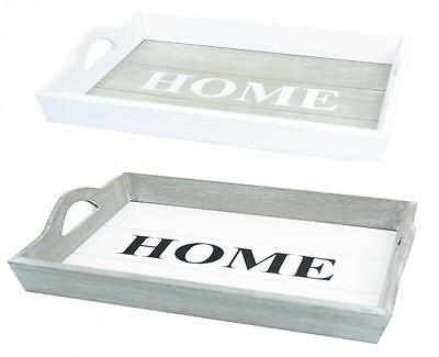 Wooden Home Rectangular Serving Lap Tray Choice Of Colours Sizes