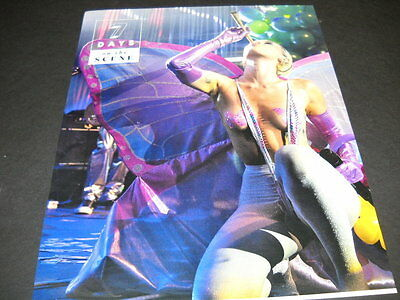 MILEY CYRUS puffing on Giant Spliff on stage 2015 PROMO POSTER AD
