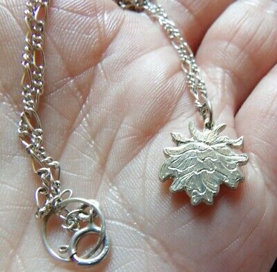 Hand Crafted Sterling Silver Engraved Rose Pendant Hallmarked  Lily Franklin