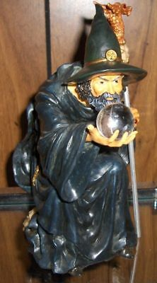Wizard With 22Mm Crystal Ball 21Cm Tall-Super Detail