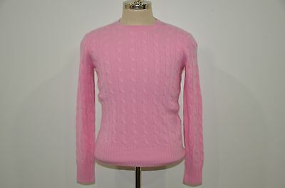 Polo Ralph Lauren 100% Cashmere Cable Crewneck Sweater XL 18-20