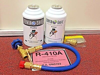 "R410A, Air Conditioning ""LEAK-STOP"" Kit Professional & Pro-Dry Envirosafe R-410"