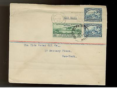 1931 Haiti Airmail Cover to Tide Water Oil Company USA