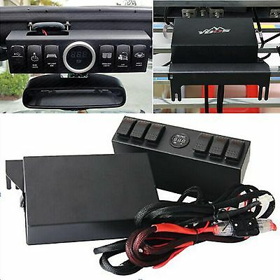 Car SUV 6 Contura Switch Wiring Panel Kit for Jeep Wrangler JK 2007-2014 New