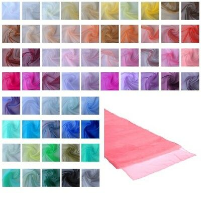 NEW Coloured Organza Table Runner Chair Sash Wedding Party Fabric Decoration