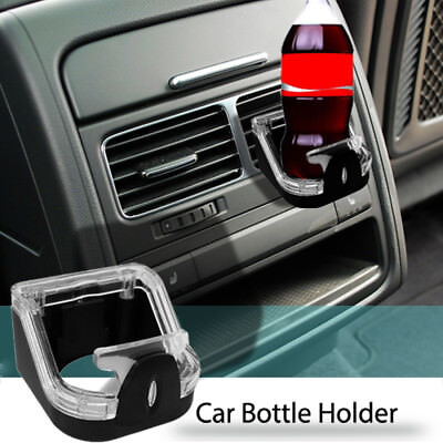 Car Van Cup Drink Can Coke Wine Glass Air Vent Holder Black Clear