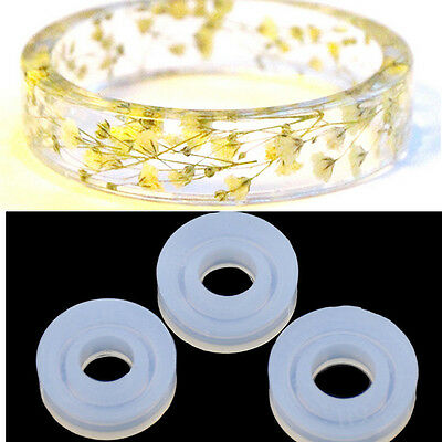 Silicone DIY Ring Mold Making Resin Casting Jewelry Rings Mould Craft Tool yj