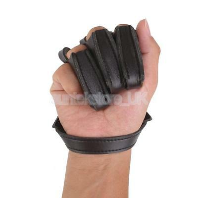 Cow Leather Archery Target Hunting Three Finger Protector Shooting Glove New
