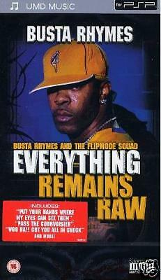 "UMD PSP Busta Rhymes ""Everything Remains Raw"" Neu OVP"
