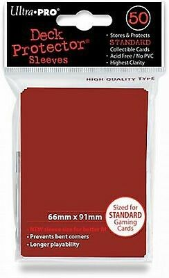 50 Bustine Protettive Ultra PRO Magic RED Rosso Standard Sleeves Buste Deck