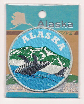 Souvenir Patch  - State Of Alaska - Whale