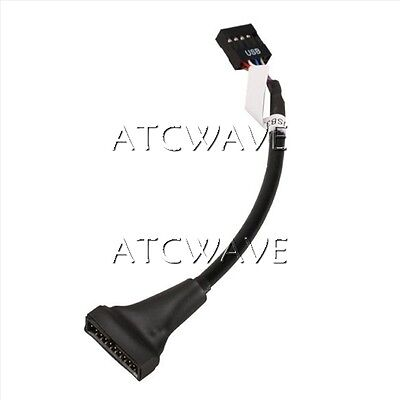 20 pin Motherboard Male Header USB 3.0 to 9 pin Female USB 2.0 Cable Adapter