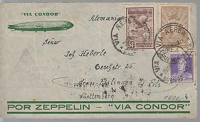 1934 Argentina Graf Zeppelin  LZ 127 Cover to Germany Condor