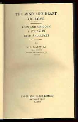 1940s M. C. D'Arcy Mind Love Unicorn Signed Gibbon Irish Letter Association copy