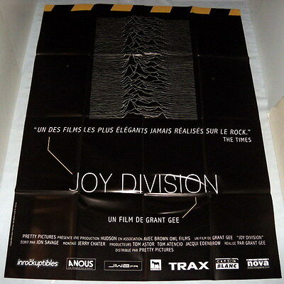 JOY DiViSiON  Ian Curtis Manchester New wave Manchester LARGE French POSTER