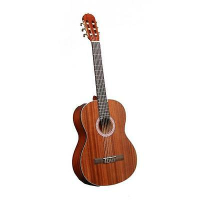 New Pyle 6-String Lefty Acoustic Guitar, Left-Handed, Full Scale, Accessory Kit