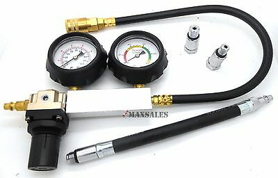 New CYLINDER LEAKAGE LEAKDOWN LEAK DETECTOR ENGINE COMPRESSION TESTER GAUGES